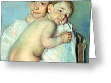 The Young Mother Greeting Card by Mary Stevenson Cassatt