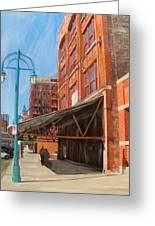 Third Ward - Broadway Awning Greeting Card by Anita Burgermeister