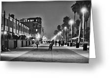 This Is California No. 11 - Venice Beach Biker Greeting Card by Paul W Sharpe Aka Wizard of Wonders