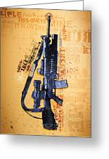 This Is My Rifle Riflemans Creed Greeting Card by Jeff Steed
