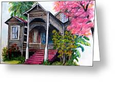 THIS OLD HOUSE  Greeting Card by KARIN KELSHALL- BEST