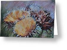 Thistledown Greeting Card by Debbie Harding
