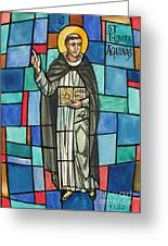 Thomas Aquinas Italian Philosopher Greeting Card by Photo Researchers