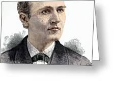 Thomas Edison, American Inventor Greeting Card by Sheila Terry