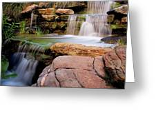 Thorndon Falls Greeting Card by Heather Thorning