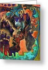 Three Dwarves Greeting Card by David Matthews