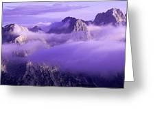 Three Summits. Julian Alps Greeting Card by Konstantin Dikovsky