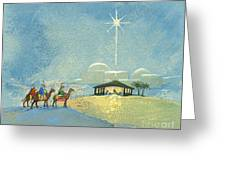 Three Wise Men Greeting Card by David Cooke