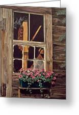 Through The Cabin Window Greeting Card by Lynda  Lawrence