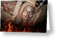 Through The Fire Greeting Card by Robin DesJardins