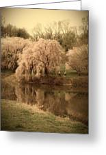 Through The Years - Holmdel Park Greeting Card by Angie Tirado