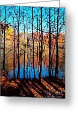 Thru Trees Greeting Card by Andrew Kazmierski
