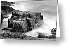 Thunder Along The Acadia Coastline - No 1 Greeting Card by Thomas Schoeller