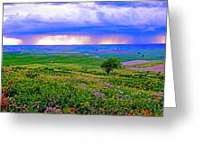 Thunderstorm Over The Palouse Greeting Card by Margaret Hood