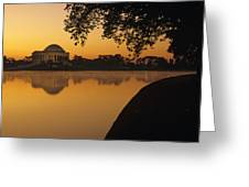 Tidal Basin And Jefferson Memorial Greeting Card by Kenneth Garrett