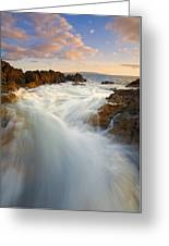 Tidal Surge Greeting Card by Mike  Dawson