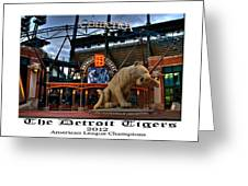 Tigers Win Greeting Card by Dave Manning
