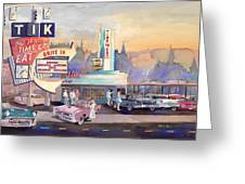 Tik Tok Drive-inn Greeting Card by Mike Hill