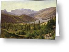 Tile Fjord Greeting Card by Louis Gurlitt
