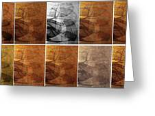 Tiled Tile Shadows Greeting Card by Ron Bissett
