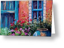 Tiled Window Greeting Card by Candy Mayer