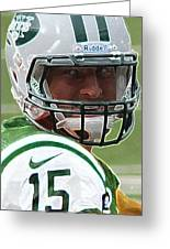 Tim Tebow Art Deco - New York Jets - Greeting Card by Lee Dos Santos