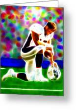 Tim Tebow Magical Tebowing 2 Greeting Card by Paul Van Scott