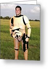 Tim Tebow Stormtrooper Greeting Card by Paul Van Scott