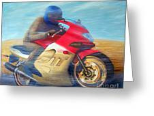 Time And Space Equation - Triumph 600tt Greeting Card by Brian  Commerford