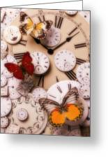 Time Flies Greeting Card by Garry Gay