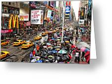 Times Square 1 Greeting Card by Andrew Fare