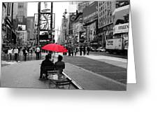 Times Square 5 Greeting Card by Andrew Fare