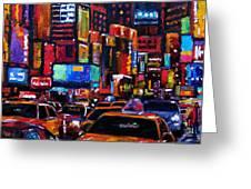 Times Square Greeting Card by Debra Hurd