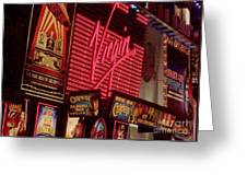 Times Square Night Greeting Card by Debbi Granruth