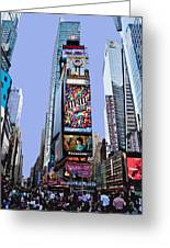Times Square Nyc Greeting Card by Kelley King