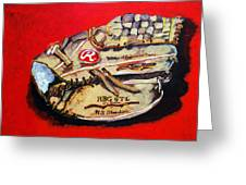 Tim's Glove Greeting Card by Jame Hayes