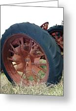Tired Tractor Greeting Card by Joy Tudor