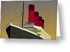 Titanic Ocean Liner Greeting Card by Michael Tompsett