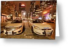To Serve And Protect Greeting Card by Evelina Kremsdorf