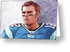 Tom Brady Greeting Card by William Bowers