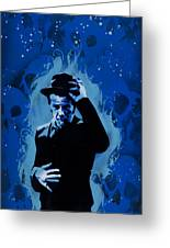 Tom Waits Greeting Card by Tai Taeoalii