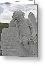 Tombstone Angel For An Angel Greeting Card by Christine Till