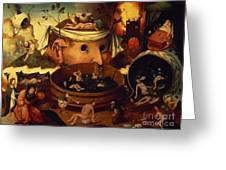 Tondals Vision Greeting Card by Hieronymus Bosch