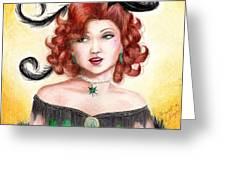 Tonya Greeting Card by Scarlett Royal