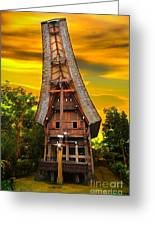 Toraja Architecture Greeting Card by Charuhas Images