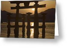 Torii Greeting Card by Karen Walzer