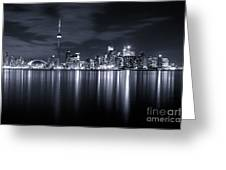 Toronto Skyline Monochrome Greeting Card by Matt  Trimble