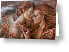 Touched By Angel Greeting Card by Arthur Braginsky