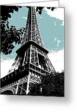 Tour Eiffel Greeting Card by Juergen Weiss