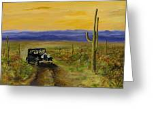 Touring Arizona Greeting Card by Jack Skinner